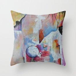 Floating Sideways Throw Pillow