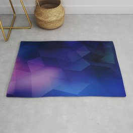 blue abstraction triangles abstract background geometric abstraction Rug