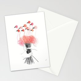 Bouquet of Flamingos Stationery Cards