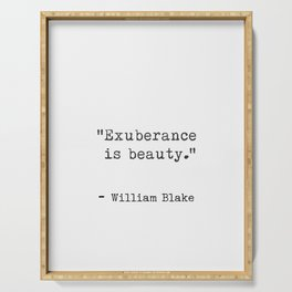 Quote William Blake Serving Tray