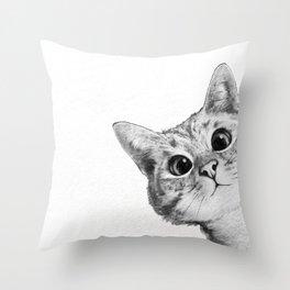 sneaky cat Deko-Kissen