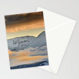 Atalaya and Tajos Negros at sunrise. 3.148 meters. Sierra Nevada Stationery Cards