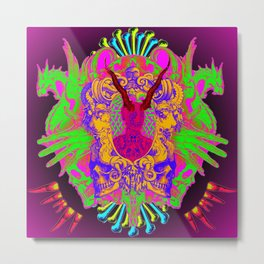 Colorful Headache Metal Print