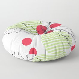Mistletoe leaf Floor Pillow