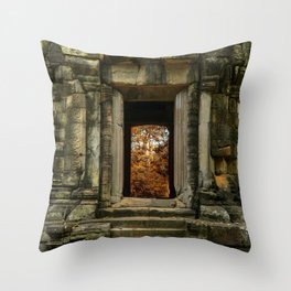 Mysterious Temple Throw Pillow