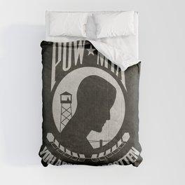 POW MIA Flag - Prisoner of War - Missing in Action Comforters