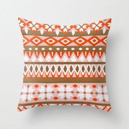 Winter Knit – Red & Burnt Sienna Throw Pillow