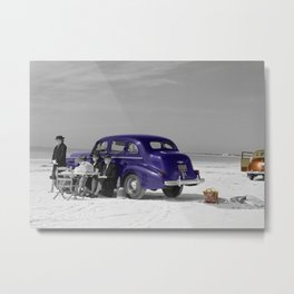 Picnic on the Beach Metal Print