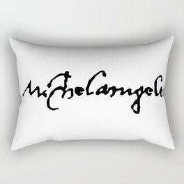 Michelangelo's Signature Rectangular Pillow