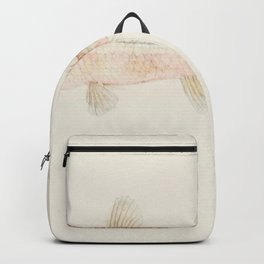 Antique fish athennidae drawn by Fe Clarke (1849-1899) Backpack