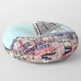 Robot in Town Floor Pillow