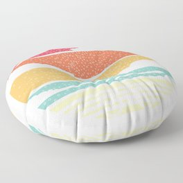 Bicycle Sun Clouds Weather Hobby Colored Gift Floor Pillow