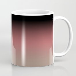 Ombre Black, Dusty Cedar, and Warm Taupe FALL 2016 PANTONE COLORS Coffee Mug