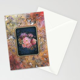 Persian Flowers and Nightingales Miniature Stationery Cards