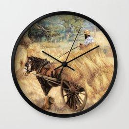 The Hay Wagon Wall Clock
