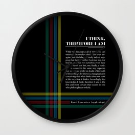 Philosophia II: I think, therefore I am Wall Clock