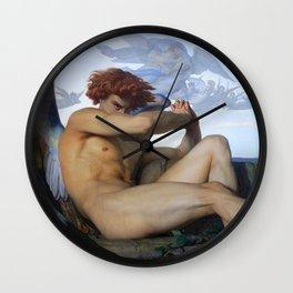 FALLEN ANGEL - ALEXANDRE CABANEL Wall Clock