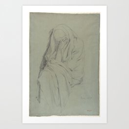 Study for Vieille Italienne(recto); Drapery Study (verso) Art Print