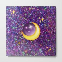 Emoji Moon Metal Print