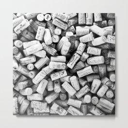 Something Nostalgic II Twist-off Wine Corks in Black And White #decor #society6 #buyart Metal Print
