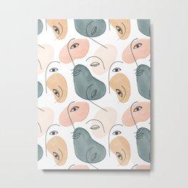 Minimal Figurative Pattern Metal Print