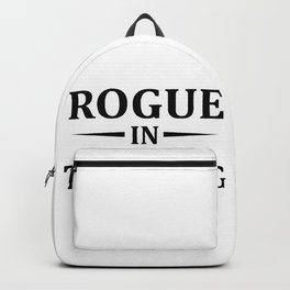 Rogue In Training, Gamer Gift, Video Game, Gaming MMORPG Backpack