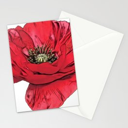 Poppy flowering plant Papaveroideae narcotic opium alkaloids ancient Stationery Cards