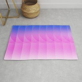Blue & pink flow Rug