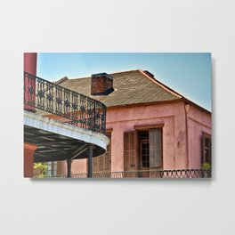 Open Shutters in the French Quarter Metal Print