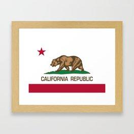 California Republic Flag - Bear Flag Framed Art Print