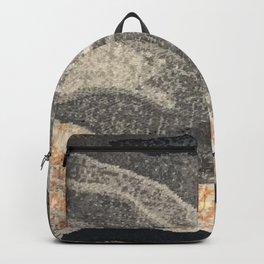 Elegant Black and Gray Pattern Backpack