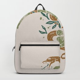 Abstract Mid Century Snake Flowers Backpack