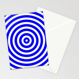Circles (Blue & White Pattern) Stationery Cards