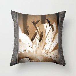Oriental Lily named Muskadet Throw Pillow