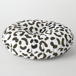 Trendy Black and White Leopard Print Pattern Floor Pillow