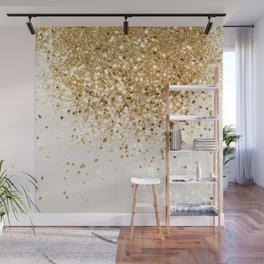 Sparkling Gold Glitter Glam #2 #shiny #decor #art #society6 Wall Mural