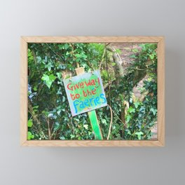 Give Away To The Fairies Framed Mini Art Print