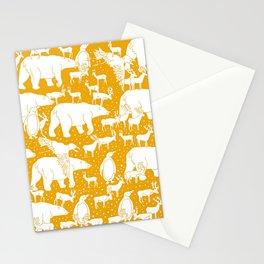 Polar gathering (orange juice) Stationery Cards