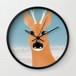 Siberian roe deer Wall Clock