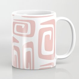 Mid Century Modern Cosmic Abstract 613 Dusty Rose Coffee Mug