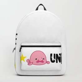 Blobfishh Grumpy Grouch Sea Creature Ugly Fish Backpack