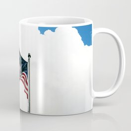 Old Glory Up In The Clouds Coffee Mug