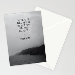 To Live Oscar Wilde Quote  Stationery Cards