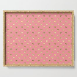Heart of gold pink lips Serving Tray