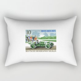 1971 GERMANY Opel Avus Automobile Race Stamp Rectangular Pillow