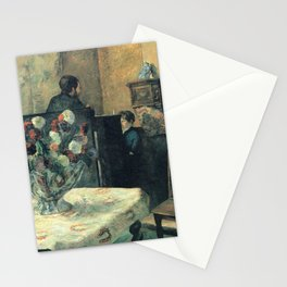 Paul Gauguin - Painting of an interior at rue Carcel, Paris (1881) Stationery Cards