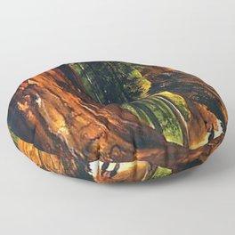 'Redwoods, Yosemite Forest' landscape painting by Gilbert Munger Floor Pillow