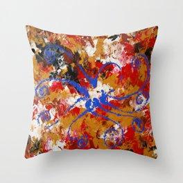 Murky Reef Throw Pillow