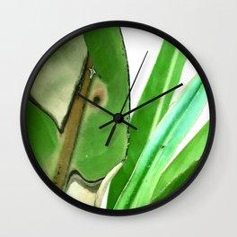 Fine Art Elegant Bird of Paradise Leaves Wall Clock