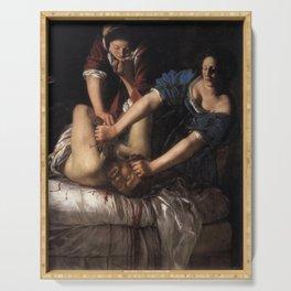 Artemisia Gentileschi - Judith Slaying Holofernes Serving Tray
